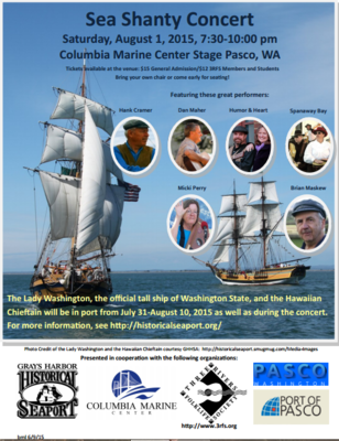 Sea Shanty Concert Columbia Marine Center Stage Pasco, Washington