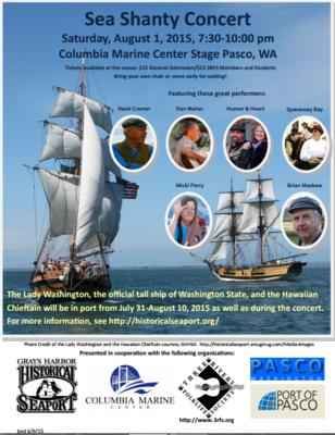 Sea Shanty Concert Columbia Marine Center Stage Pasco, Washington