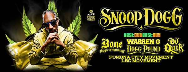 Snoop Dogg - Puff Puff Pass Tour 2016 Featuring Bone Thug-N-Harmony, DJ Quick, and a Lot More! | Kennewick