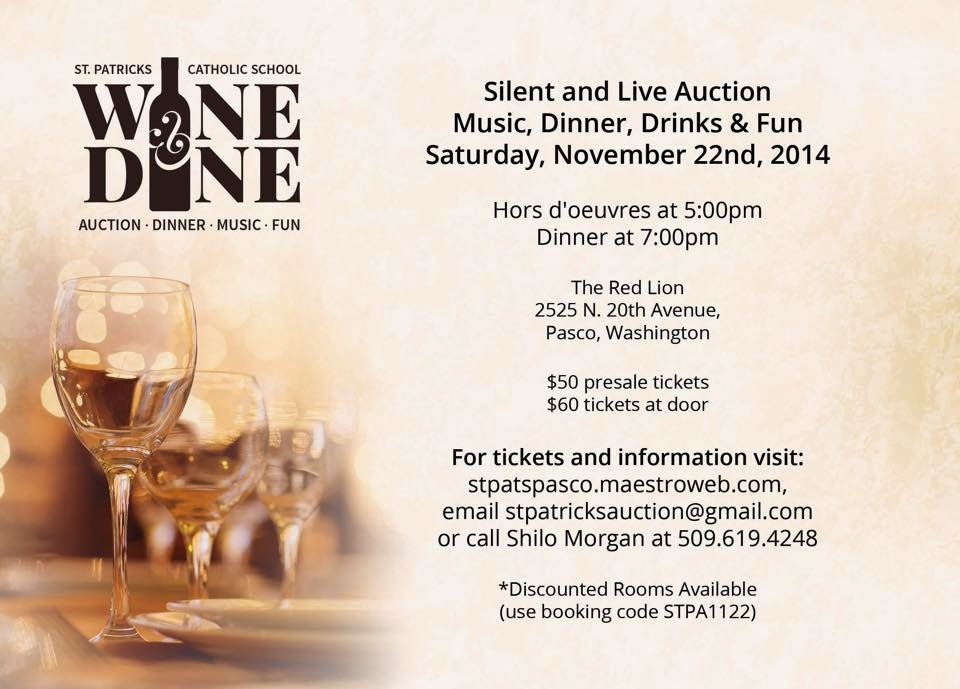 St. Patrick's Wine & Dine Fundraiser - Pasco Red Lion In Pasco, Washington