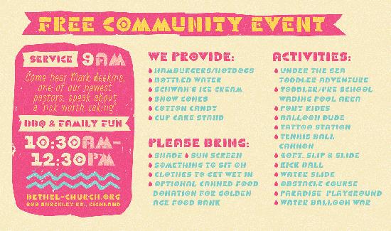 Summer Fun Fest and Community Picnic 2015 Bethel Church Richland Wa