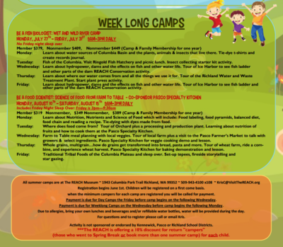 Summer Camps Just For Kids - Rocket Camp At The REACH Richland, Washington