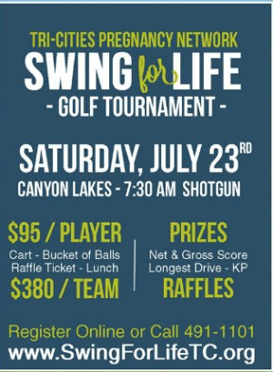 Swing for Life Golf Tournament: 'Empowering Individuals to Make Life-Affirming Choices' for the Benefit of Tri-Cities Pregnancy Network | Kennewick, WA