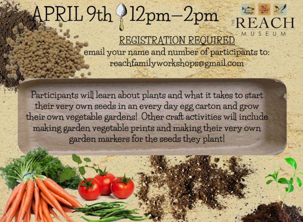 The REACH Saturday Stem Family Workshops Presents Plants and Egg Carton Gardens | Richland, WA