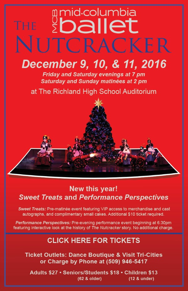 Mid-Columbia Ballet Presents 'The Nutcracker' at Richland Washington High School Auditorium
