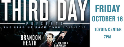 Gospel Christian Rock Band Third Day At Toyota Center Kennewick, Washington