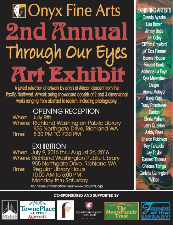 Onyx Fine Arts Presents 'Through Our Eyes' Art Exhibit Opening Reception | Richland Washington Public Library