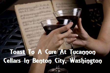 Toast To A Cure At Tucannon Cellars In Benton City, Washington