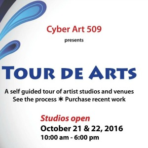 Cyber Art 509 Tour De Arts -Feast Your Eyes on a Variety of Arts and Crafts with the Makers Themselves! |  Different Venues in Tri-Cities, Washington