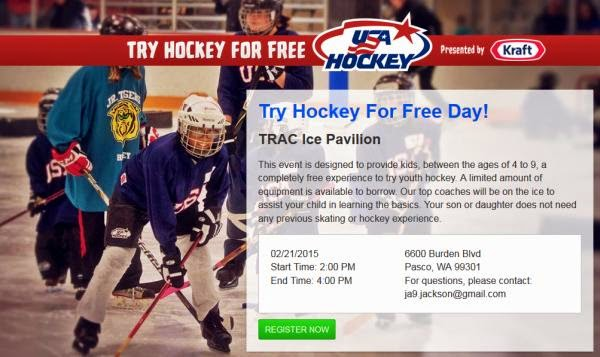 Try Hockey for Free Day At The TRAC Ice Pavilion In Pasco, WA