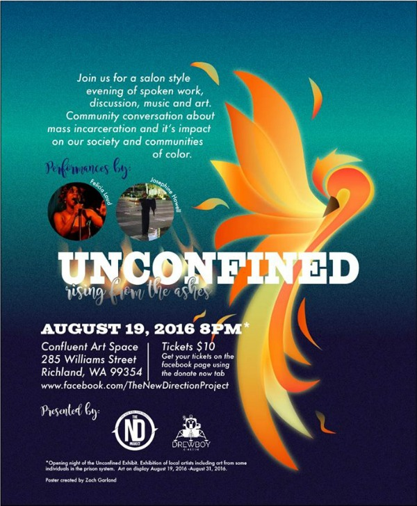 Unconfined Art Show: An Evening of Spoken Word, Music and Artwork | Confluent Space Tri-Cities in Richland, WA
