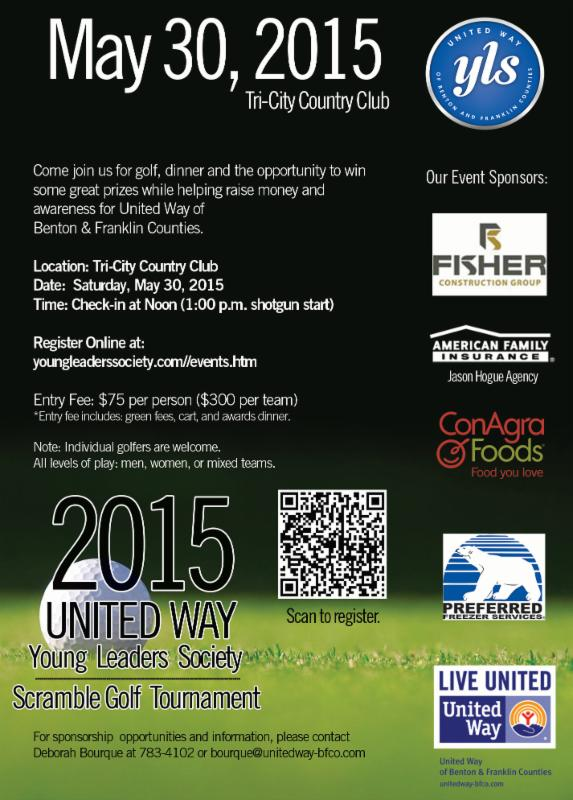 United Way Young Leaders Society Scramble Golf Tournament Kennewick, Washington