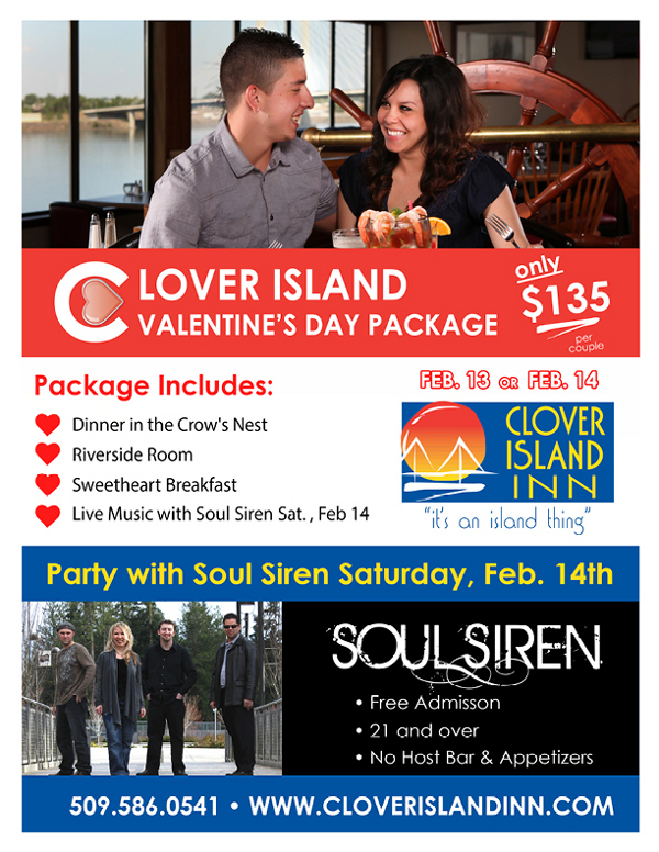 Soul Siren & Valentines Romance Weekend, Clover Island Kennewick, Washington