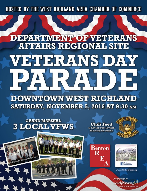 Department of Veterans Affairs Regional Site's Veterans Day Parade | Downtown West Richland, WA