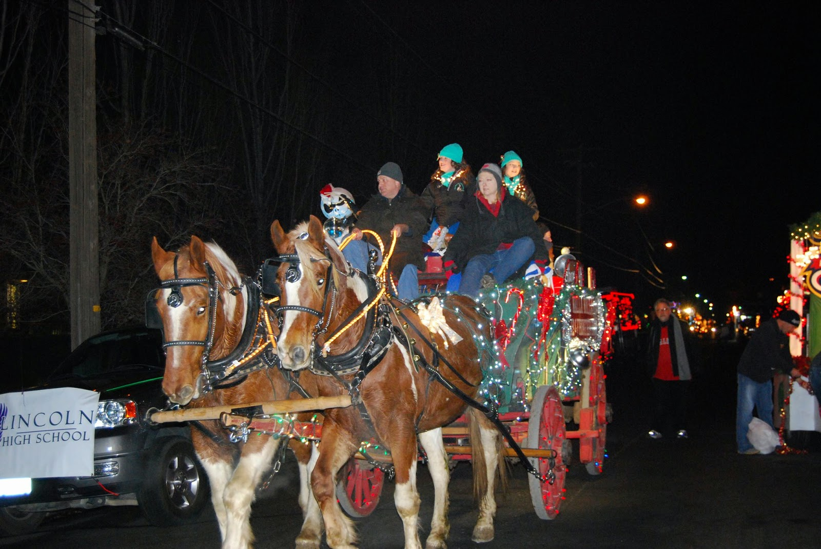 Macy's Parade of Lights In Downtown Walla Walla, Washington