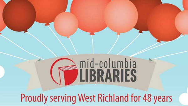 Mid-Columbia Libraries' Celebration of West Richland Washington Library's 48th Birthday | Painting the Town Red with Fun Activities and Giveaways
