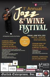 1st Annual Jazz & Wine Festival WSU Tri-Cities Campus Richland, Washington