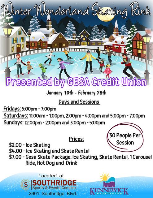 Winter Wonderland Skating Rink At Southridge Sports & Events Complex Kennewick, Washington