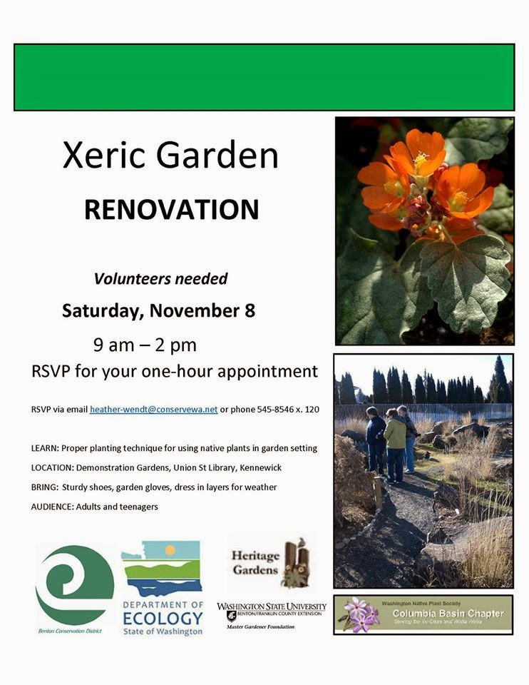 Volunteers Needed For Xeric Garden Renovation In Kennewick, Washington