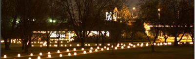 Yakima Area Arboretum Hosts The Annual Luminaria In Yakima, Washington