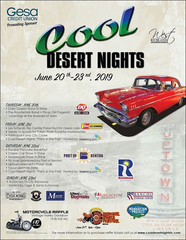 2019 Cool Desert Nights: Classic Car, Motorcycle, and Street Rod Show | Richland WA