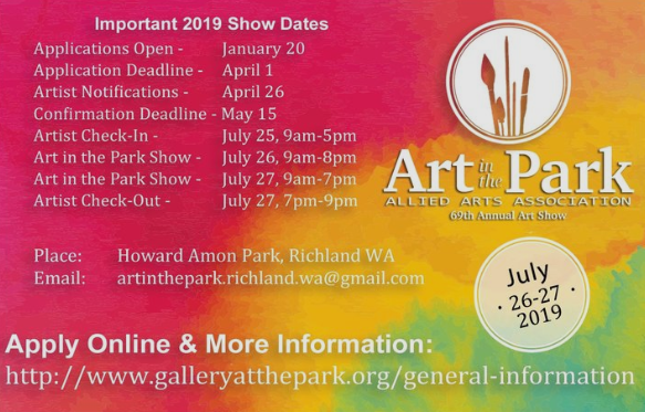 2019 69th Annual Art In The Park at Howard Amon Park, Richland Washington