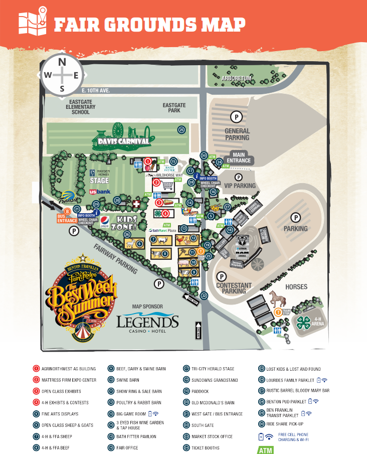 2019 Benton County Fair and Rodeo Map