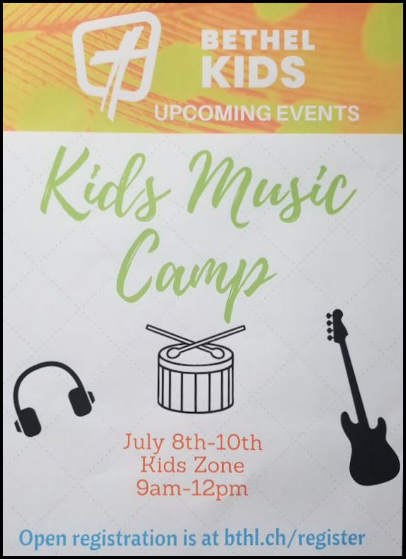 Kids Summer Music Camp at Bethel Church, Richland WA