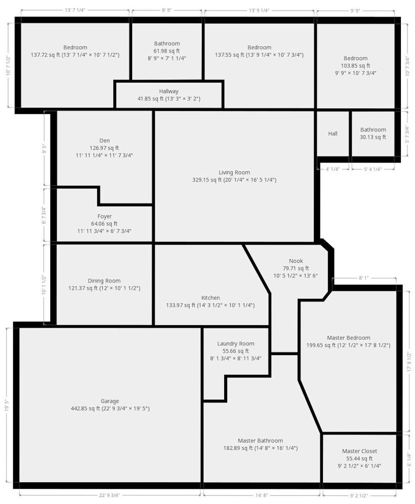 Floor plan of 483 Aimee Drive Richland WA 99352