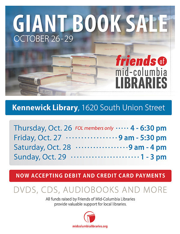 Mid Columbia Libraries Book Sale, Tri Cities Washington