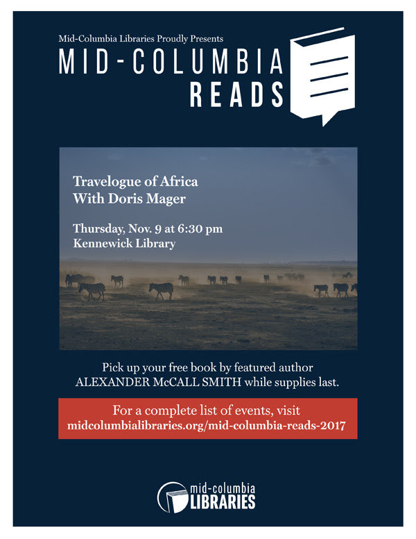 Mid-Columbia Library Reads Africa Travel, Doris Mager in Kennewick
