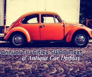 antique car display image