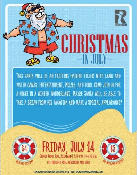 christmas in july poster