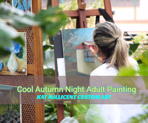 cool autumn night adult painting
