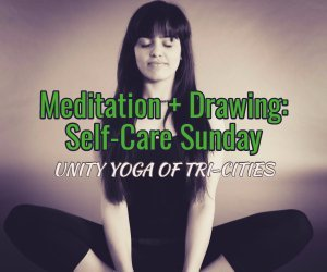mediation + drawing: self-care Sunday