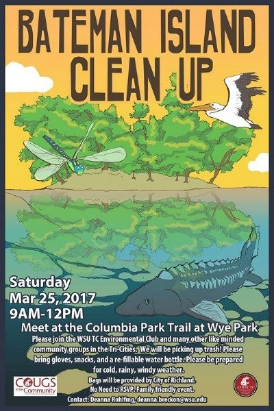 bateman island clean up poster