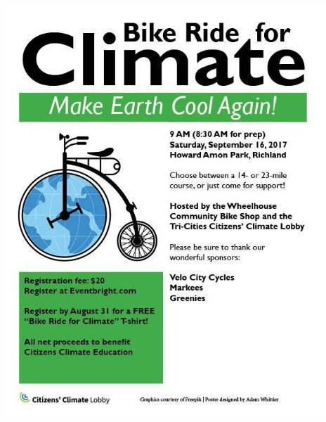 bike ride for climate poster