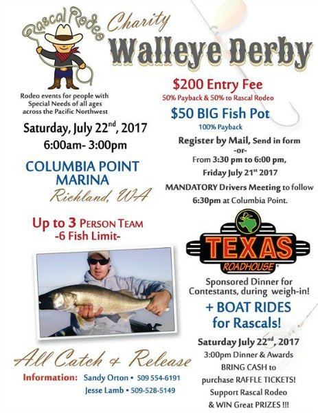 charity walleye derby poster