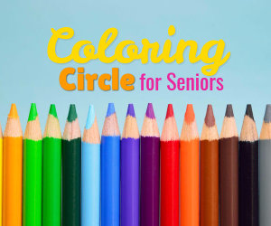coloring circle for seniors