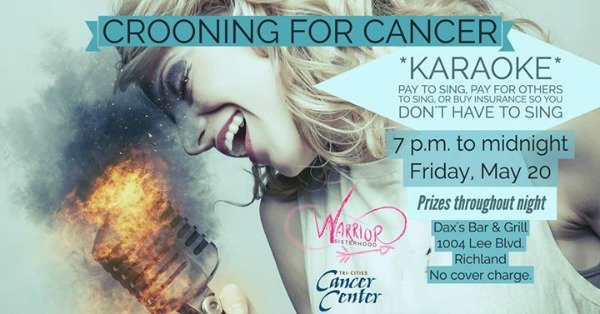 crooning for cancer poster