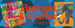 elephants and giraffe