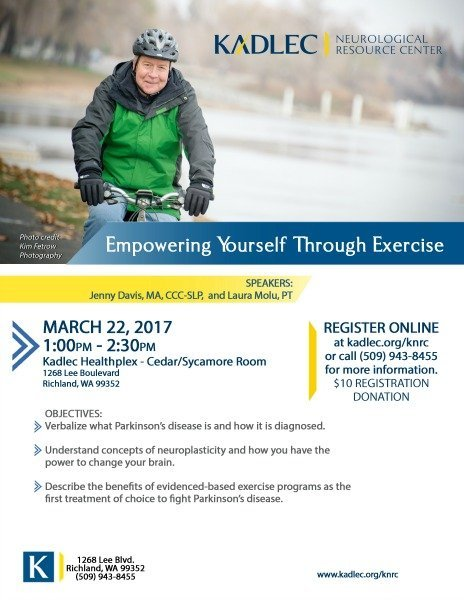 empowering yourself through exercise poster