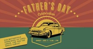 father's day celebration and car show image