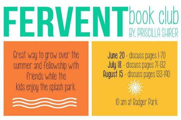 fervent summer book club poster