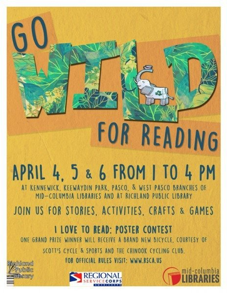Mid-Columbia Libraries Presents Go Wild for Reading Featuring Fish and Wildlife Conservation