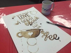 paint with coffee image