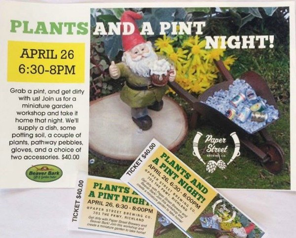 plant and a pint poster