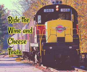 ride the wine and cheese train