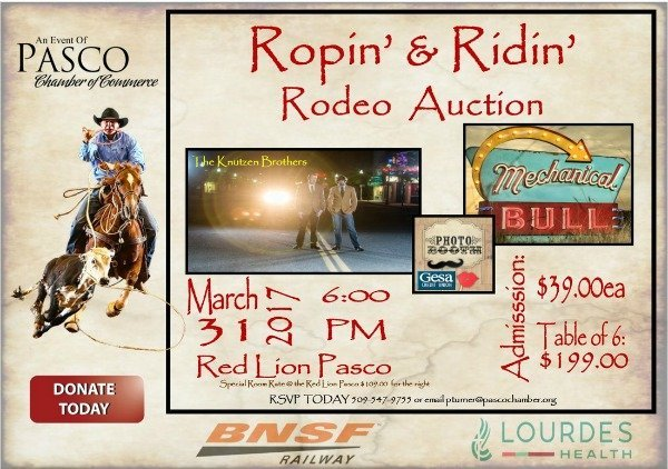 rodeo auction poster