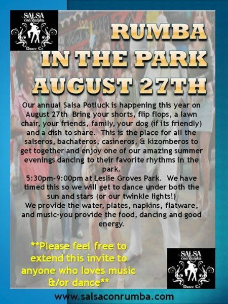 rumba in the park poster